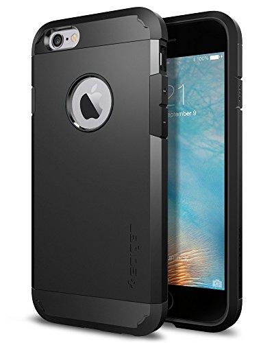 【Spigen】 スマホケース iPhone6s ケース/iPhone6 ケース 対応 米軍MIL規格取得 耐衝撃 タフ・アーマー SGP11614 (ブラック)