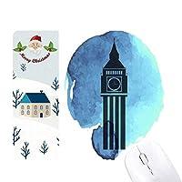 ビッグベンロンドン・イングランド英国英国 サンタクロース家屋ゴムのマウスパッド
