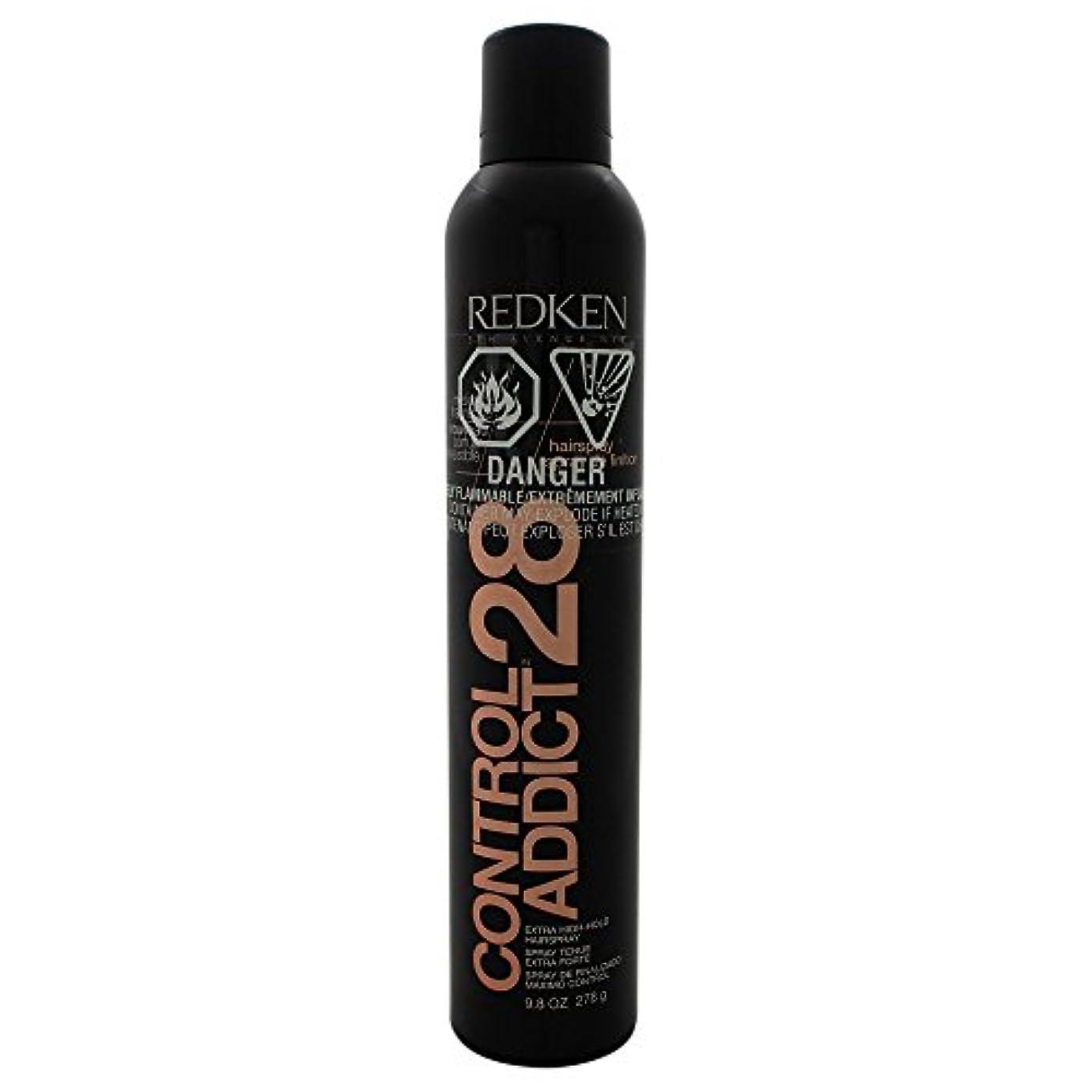 霧深い首尾一貫したしつけby Redken CONTROL ADDICT 28 EXTRA-HIGH HOLD HAIR SPRAY 9.8 OZ(BLACK PACKAGING) by REDKEN