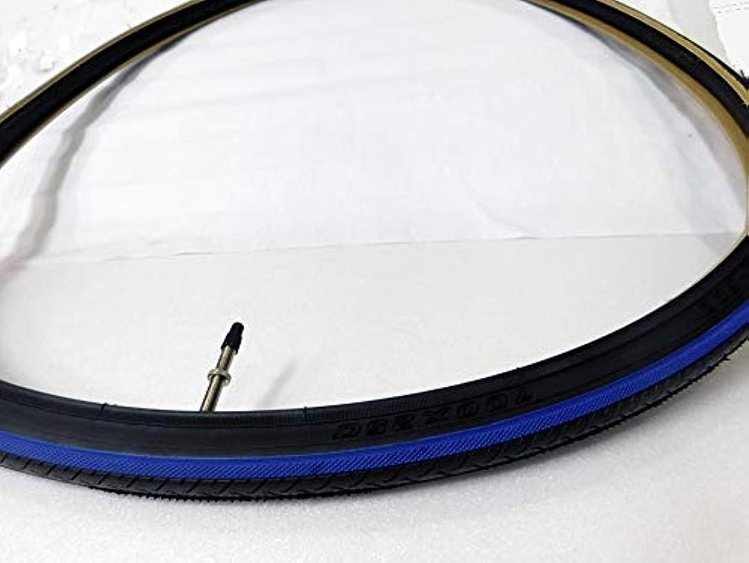 ライド司令官承知しましたDuroタイヤ(ダンロップOEM工場)HF187 700x25C ブルーライン+チューブ仏52mm付きx1本~