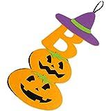 F Fityle ハロウィーンパーティー 吊り装飾 幽霊 カボチャ装飾 小道具 おもちゃ 高品質 全2色 - 紫の