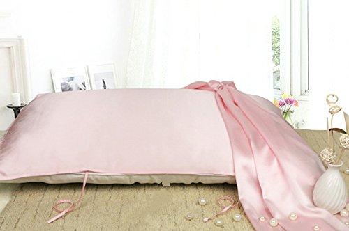 DEZAR 100% 天然 シルク 枕 カバー 50 cm * 75 cm 16.5 匁 (桜ピンク) 静電気防止 敏感肌 も 安心