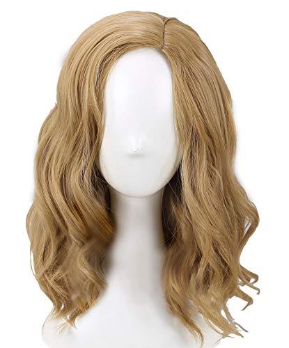 キャプテン・マーベル コスプレ ウィッグ Captain Marvel wig 自然 Coslive Carol Danvers コスチューム 映画 グッズ 仮装 ハロウィン 日常 おしゃれな色