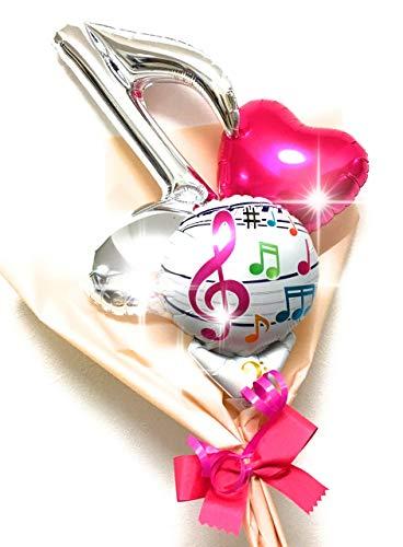 音符バルーンブーケ (Pink)