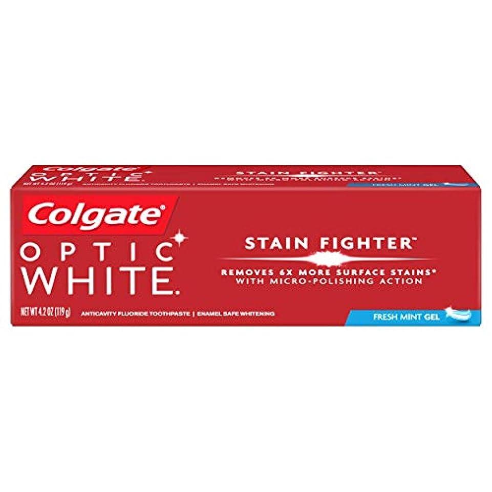 リンケージ救援裁量コルゲート ホワイトニング Colgate 119g Optic White STAIN FIGHTER 白い歯 歯磨き粉 ミント (Fresh Mint)