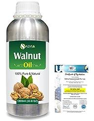 Walnut (Juglans regia)100% Natural Pure Carrier Oil 1000ml/33.8fl.oz.