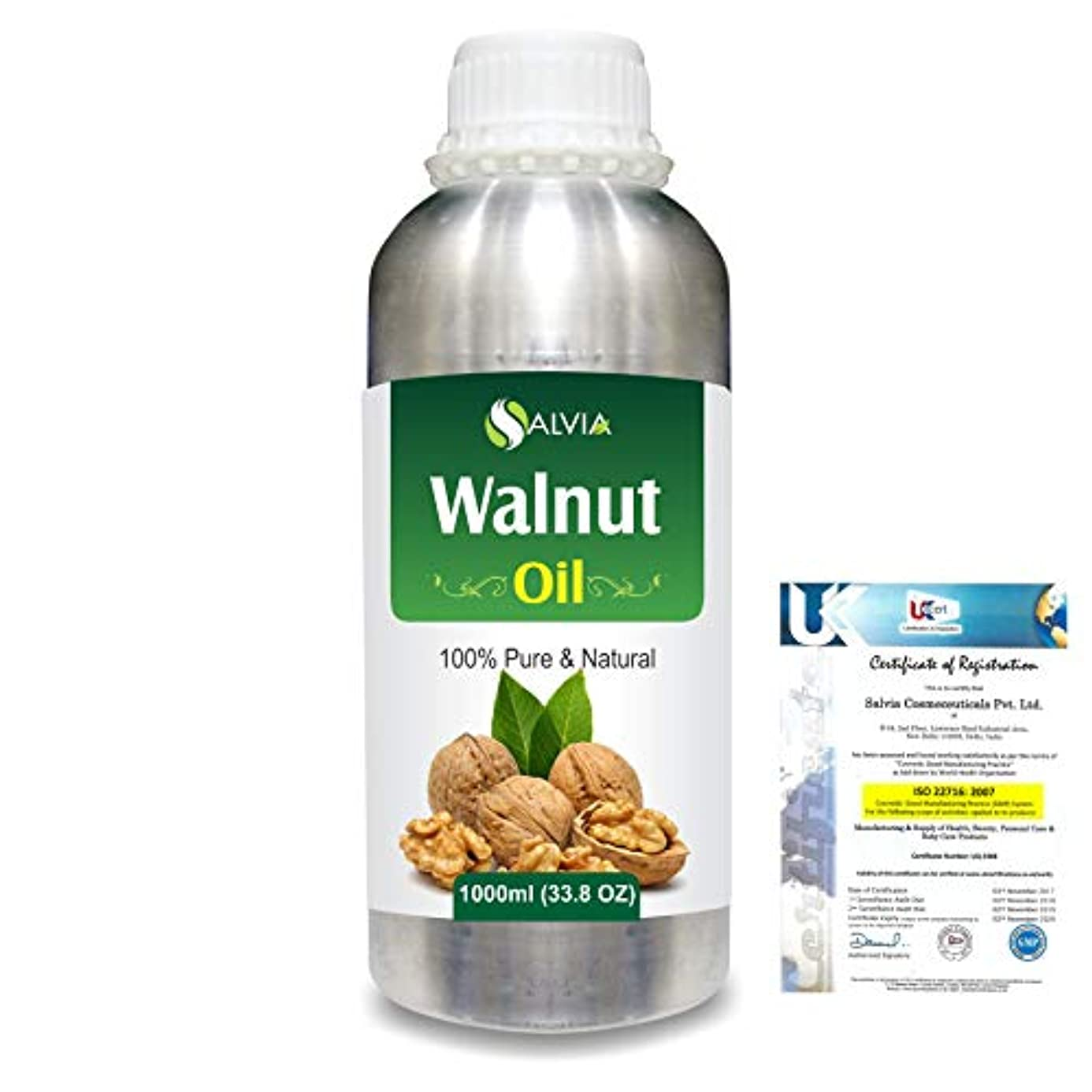 旅行代理店フリース熱狂的なWalnut (Juglans regia)100% Natural Pure Carrier Oil 1000ml/33.8fl.oz.