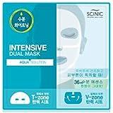 [SCINIC]サイニクアクアソリューションデュアルマスク水分供給マスクパック36ml(上18ml、下18ml)10枚 [並行輸入品]
