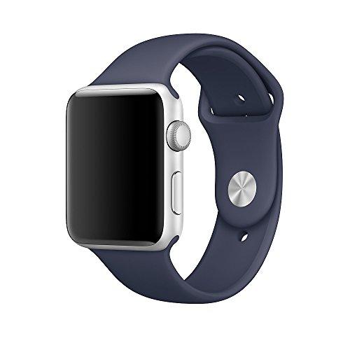 Apple Watch バンド、XMDirect スポーツバンド シリコーン 全機種対応 for Apple Watch Series 1 / Series 2 / Nike+ 【38mm、ミッドナイトブルー、S/M & M/L】