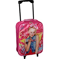 "Nickelodeon JoJo Siwa Girl's 15"" Collapsible Wheeled Pilot Case - Rolling Luggage"