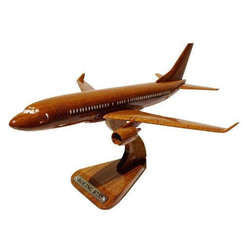 MocPro木製エアプレーンモデル ハンドメイド木製飛行機模型 ボーイング737