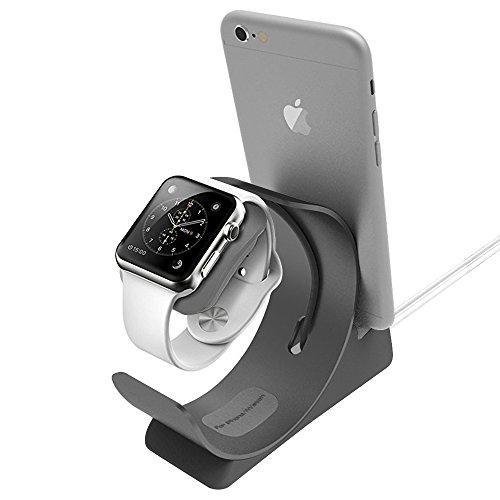 Apple watch 2,iphone 7/7 plus充電 ARCHEER iWatch / iPhone / iPad / iPod充電スタンド 充電クレードル 2in1充電スタンド クレードル ドック(グレー)
