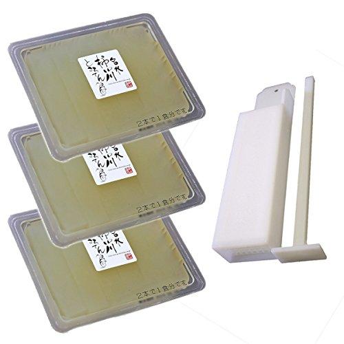 伊豆河童 9種類のタレ付お試し柿田川名水ところてん 3パック 9食セット プラスチック突き棒付