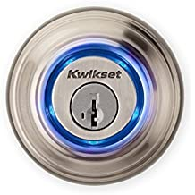 Kwikset Kevo (1st Gen) Smart Lock with Keyless Bluetooth Touch to Open Convenience (Certified Refurbished) in Satin Nickel