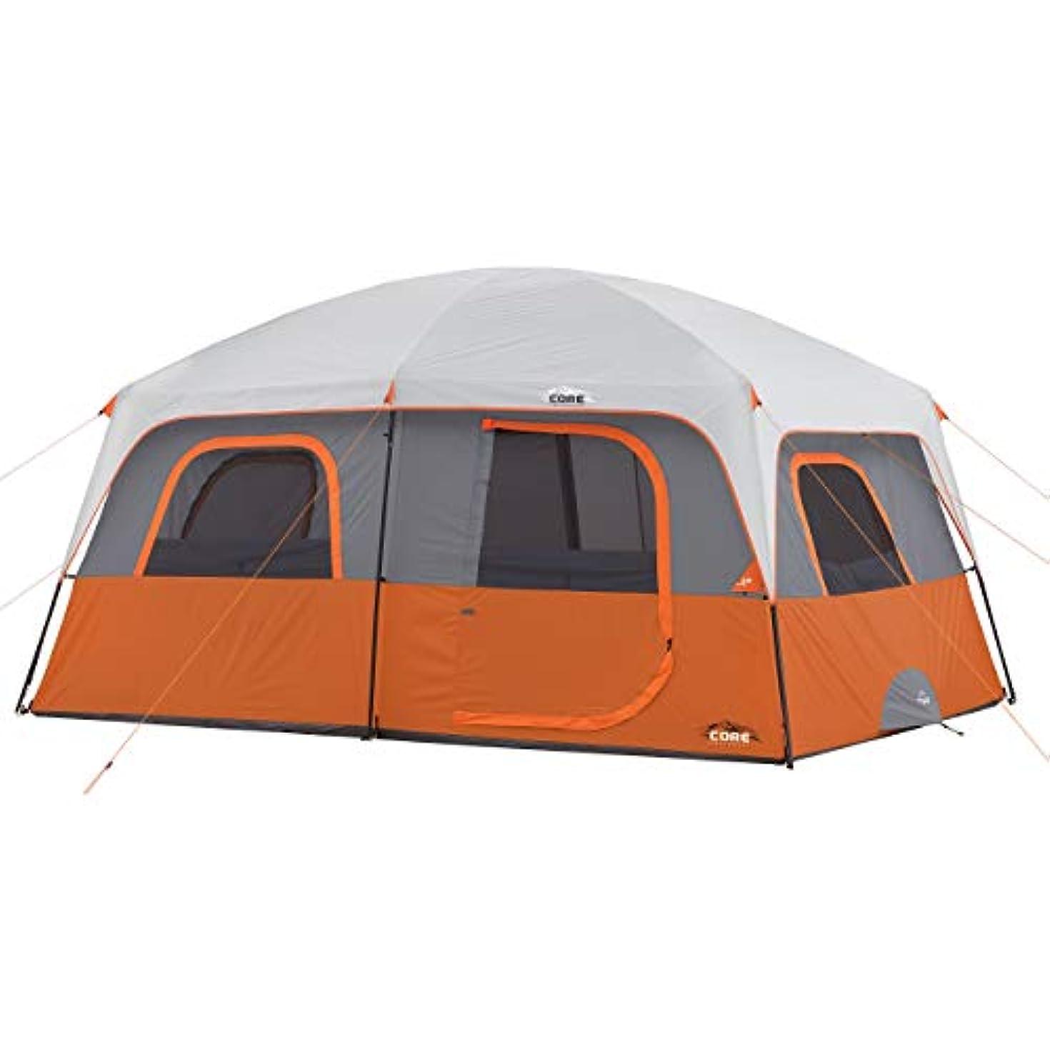 文句を言うサーバント快適CORE 10 Person Straight Wall Cabin Tent (Orange) [並行輸入品]