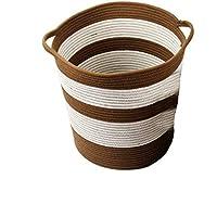 DCAH ストレージバスケット厚い汚れた服汚れた靴下布製のハンパーバスケット家庭用保管用バスケット Laundry basket (色 : Brown, サイズ さいず : 30 * 28 * 23cm)