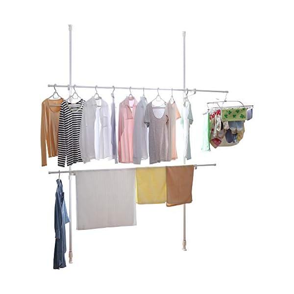 アイリスオーヤマ 洗濯物干し 室内物干し 窓枠物...の商品画像