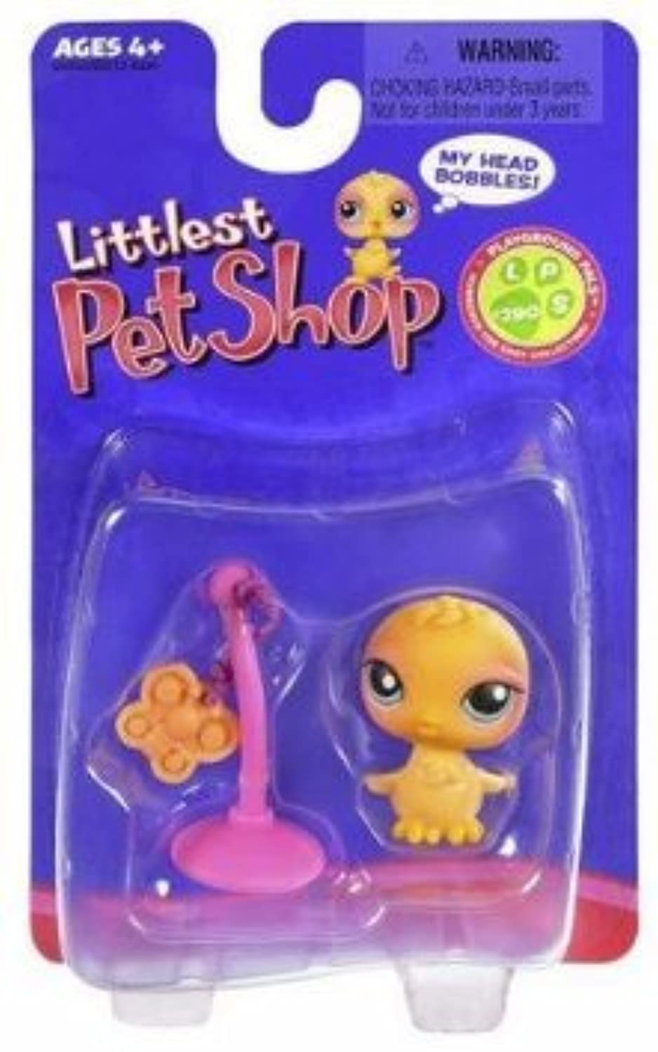 Littlest Pet Shop (リトルペットショップ) Single Pack Yellow Chick #290 w/ Butterfly Toy(並行輸入)