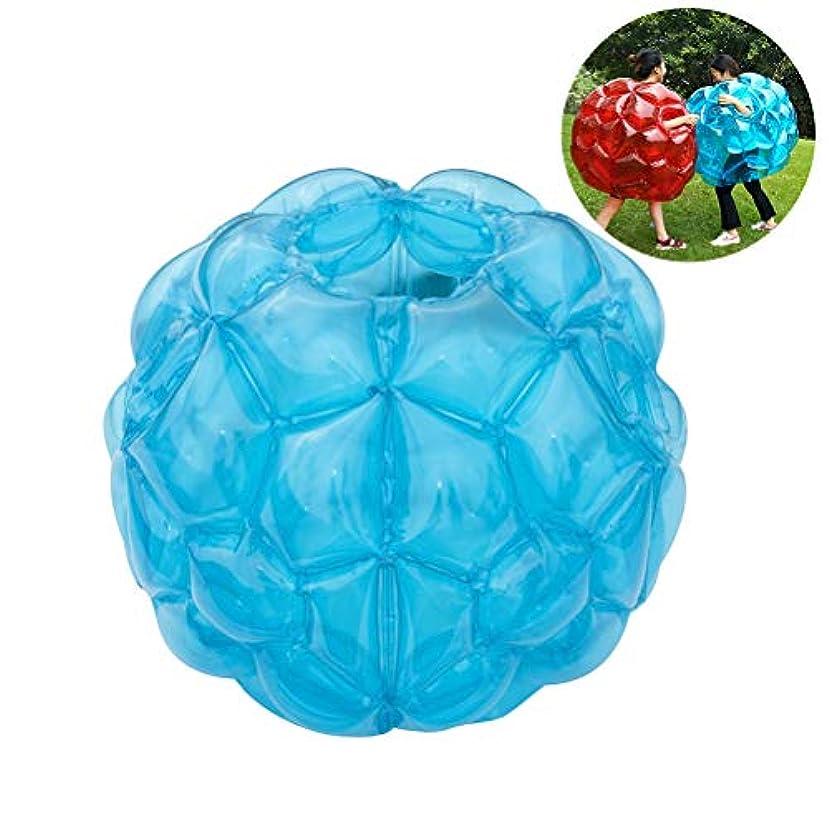 おばさん喪自発的WINOMO バンパーボール インフレータブル PVC 透明 バブルサッカー ゾービングボール 空気注入式 子供 大人 競技、イベント、レジャーに お誕生日、クリスマスプレゼント 60*60cm 1個(透明青)