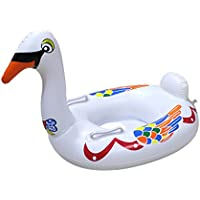 スイミングリングインフレータブルビッグホワイトグースシートプールインフレータブルグッズ夏の水のおもちゃスイミングフロート、ホワイト78 * 42 * 52センチメートル