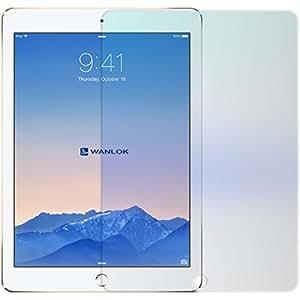 WANLOK 安心交換保証付 2015 新設計 iPad Air2 (2014) & iPad Air (2013) 透明強化ガラス保護フィルム NSG 日本板硝子社 国産ガラス採用 ガラスフィルム 2.5D 硬度9H ラウンドエッジ加工 アップル アイパッド ( iPad Air2 & iPad Air , 1枚組)  【国内正規流通品】4562459351974