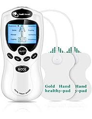 マッサージ機 パッド付 8種類のマッサージモード 強度調整可能 液晶表示 リラックス 血行促進 コリ解決 腰痛 疲れ 神経痛緩解 不眠症改善 家庭用