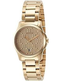[グッチ]GUCCI 腕時計 Gタイムレス イエローゴールド文字盤 YA126553 レディース 【並行輸入品】