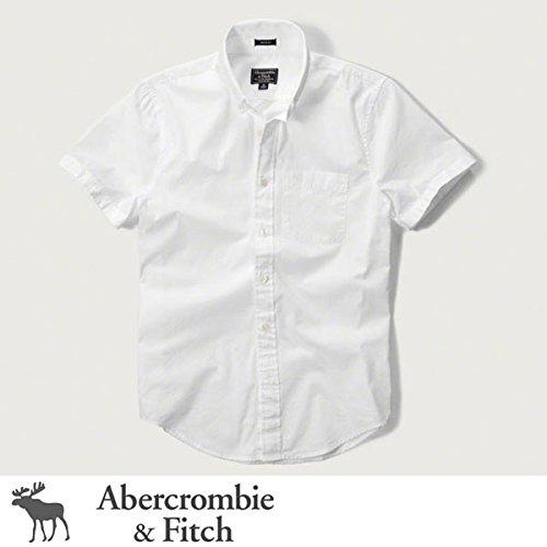 (アバクロンビー & フィッチ) Abercrombie & Fitch ボタンダウン 半袖シャツ Iconic Poplin Short Sleeve Shirt - White [並行輸入品]