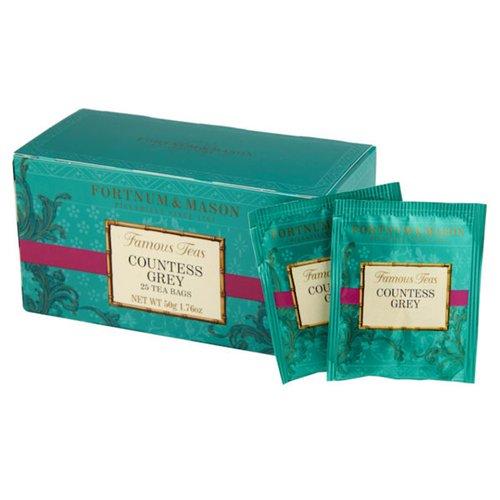 & MASON(フォートナム&メイソン) フォートナム&メイソン カウンテスグレイ ティーバッグ25個入り 個包装(Fortnum & Mason Countess Grey 25 Teabags)