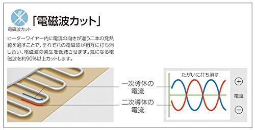 コイズミ 電気掛敷毛布 電磁波カット 188×130cm KDK-7586D