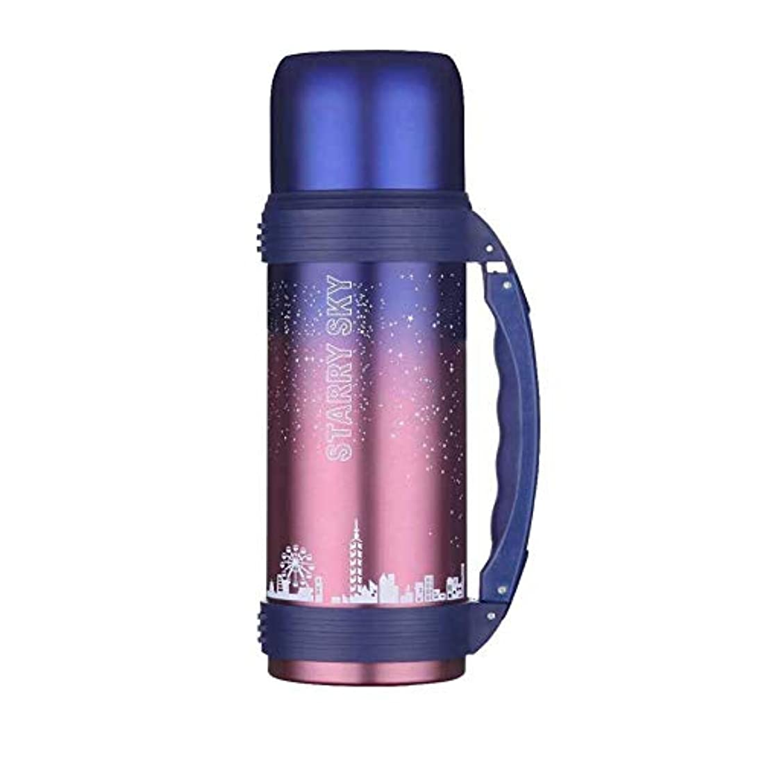 砂の横向き関連付けるLIRIDP 保温ポット 真空水差し304ステンレス鋼二重壁真空断熱コーヒーポットコーヒープランジャー、コーヒー、紅茶、フルーツジュース、牛乳、お湯1.2Lに最適 (色 : 赤)