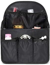 【改良版】バッグインバッグ リュック 15ポケット A4 b4 c4 収納整理 大容量 軽量 ナイロン インナーバッグ インナーポケット 収納力抜群 仕分け デイパック?ザックに便利 メンズ レディース bag in bag