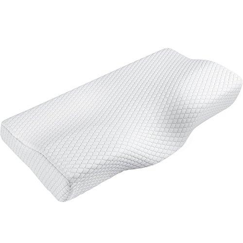 Jerrybox 枕 安眠 ストレートネック枕 健康枕 低反発 まくら 肩こり対策 首・頭・肩をやさしく支える ヘルスケア枕 (ホワイト)