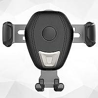 FairOnly ワイヤレス充電器 Qi 車用 重力センサー 過温度保護 過電圧保護 過電流保護 短絡保護 iPhone 8/8プラス サムソンギャラクシーS9/S9プラス適用 エアベント電話ホルダー 黒