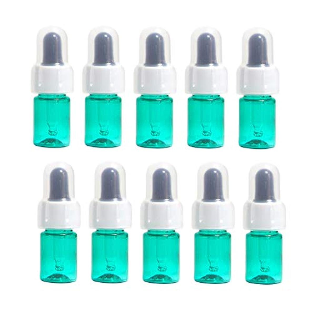 こしょう告発者大佐CUTICATE 遮光瓶 ドロッパー エッセンシャルオイルボトル ドロッパーボトル 精油ボトル 詰め替え容器 全5カラー - 緑