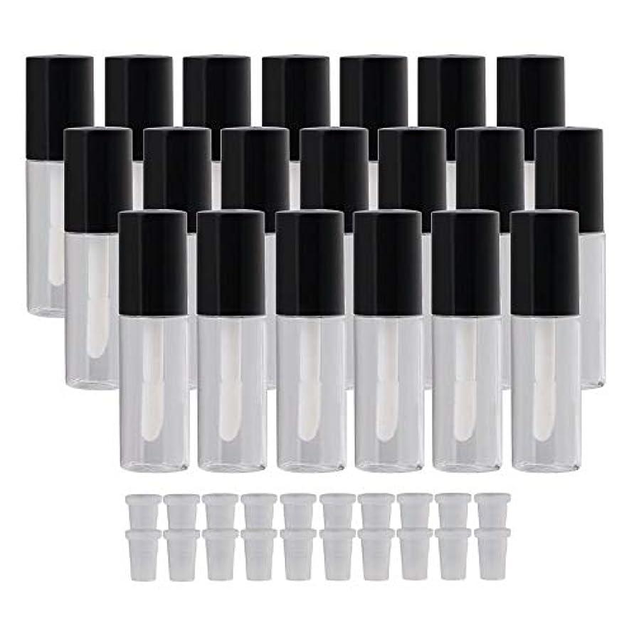 生まれ持つパーチナシティKaittyoffice 20個入 リップグロスチューブ リップ容器 リップ オイル 空 詰め替え 3.8ml 手作り化粧品 ブラック&透明