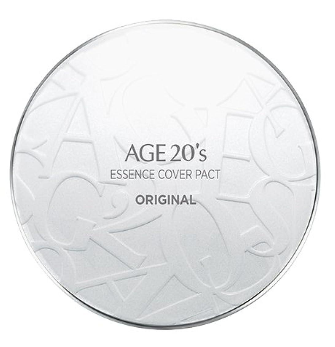 居間忌まわしいコントラストAGE 20's Essence Cover Pact Original [White Latte] 12.5g + Refill 12.5g (#21)/エイジ 20's エッセンス カバー パクト オリジナル [ホワイトラテ...