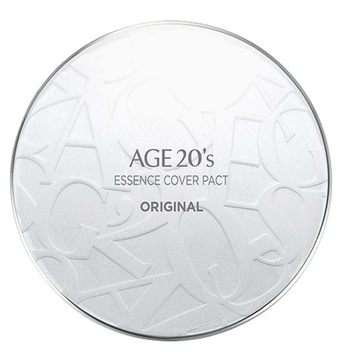 宮殿出力食料品店AGE 20's Essence Cover Pact Original [White Latte] 12.5g + Refill 12.5g (#21)/エイジ 20's エッセンス カバー パクト オリジナル [ホワイトラテ...