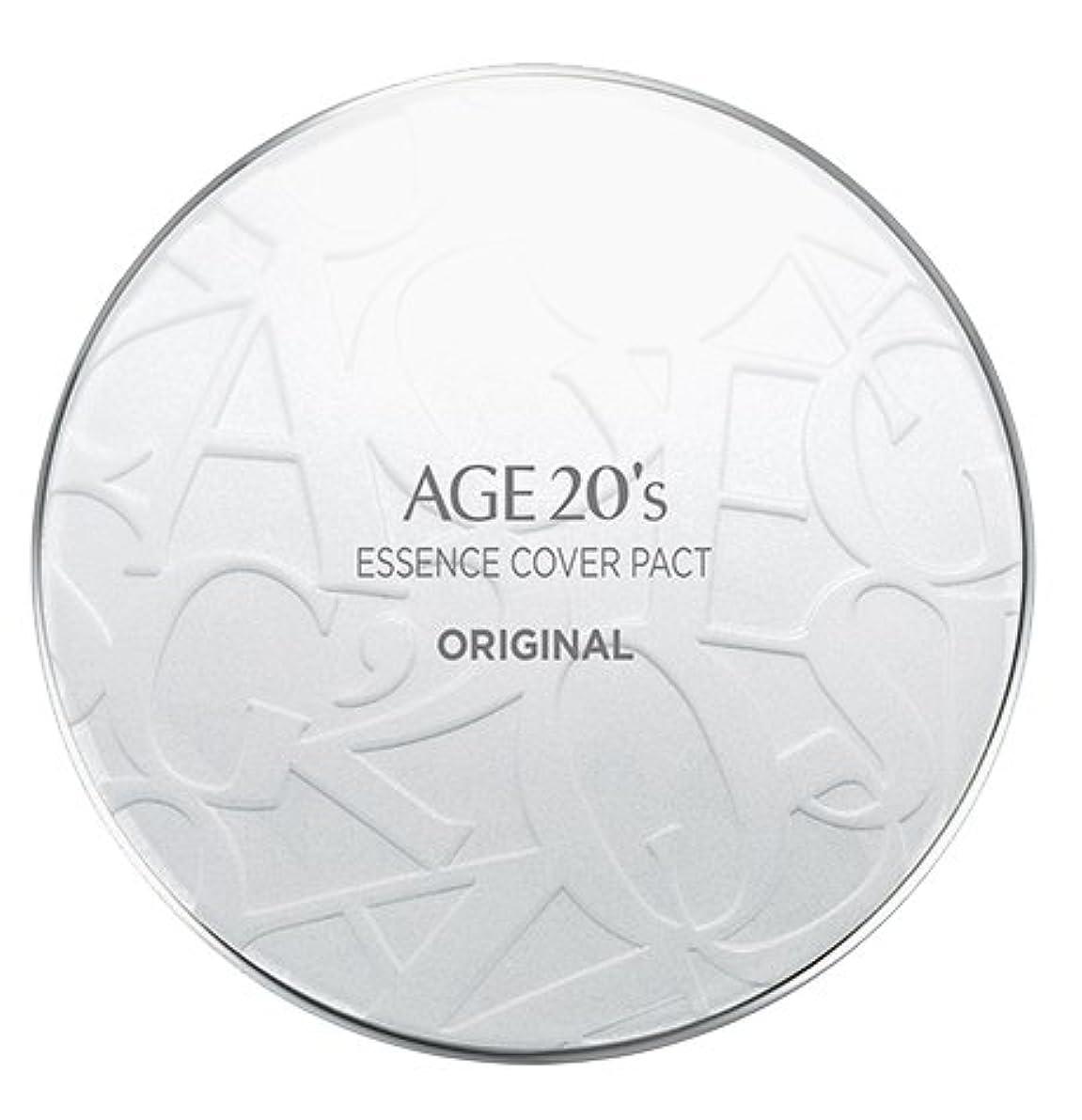 一過性浮浪者花瓶AGE 20's Essence Cover Pact Original [White Latte] 12.5g + Refill 12.5g (#21)/エイジ 20's エッセンス カバー パクト オリジナル [ホワイトラテ...