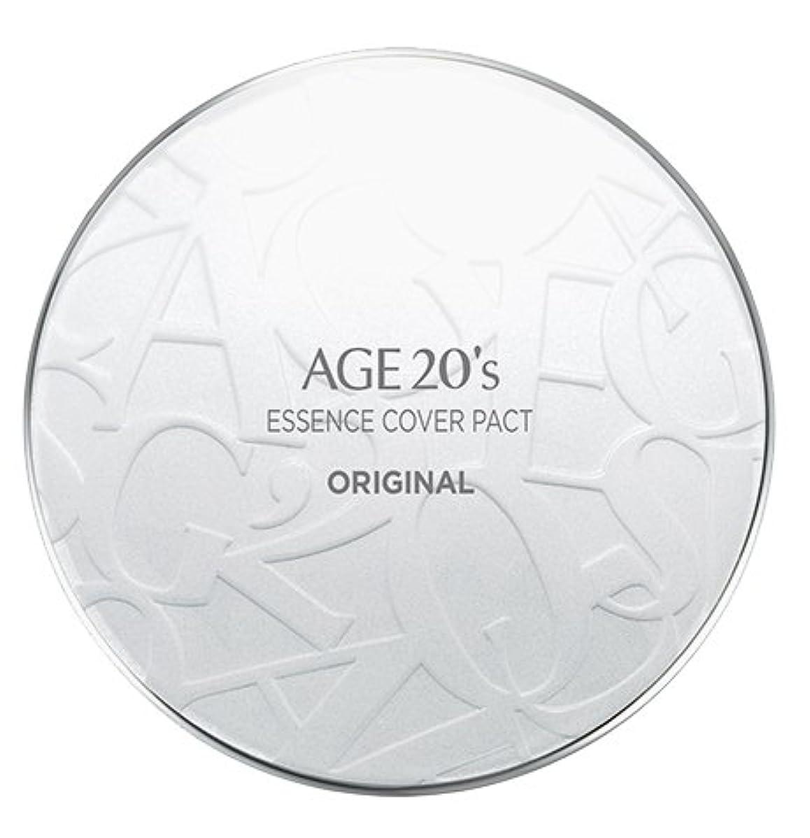 高齢者認める先にAGE 20's Essence Cover Pact Original [White Latte] 12.5g + Refill 12.5g (#21)/エイジ 20's エッセンス カバー パクト オリジナル [ホワイトラテ...
