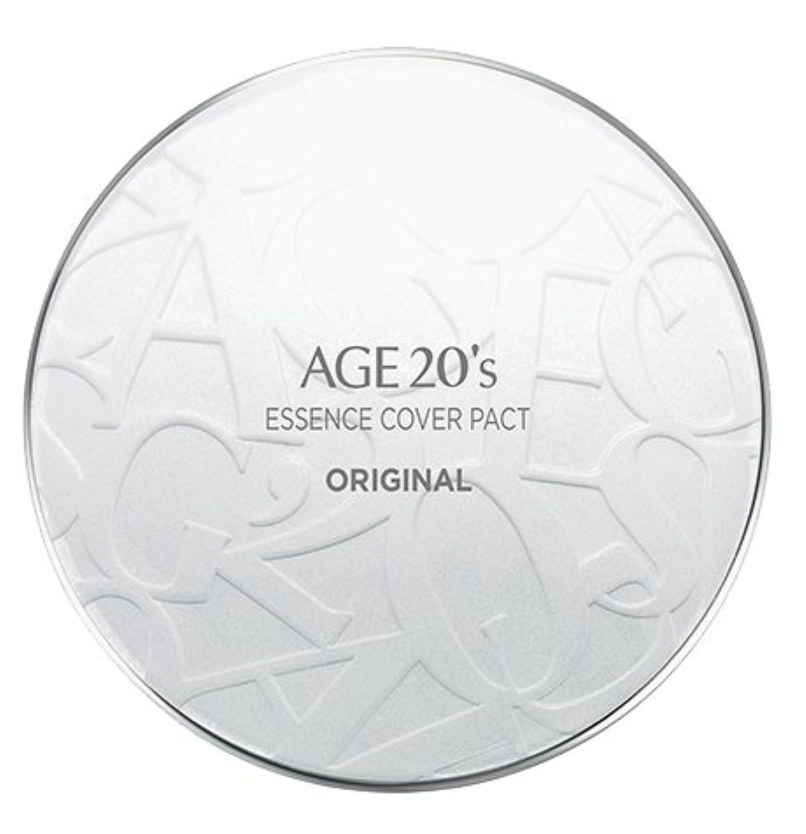 の頭の上著名なアクセルAGE 20's Essence Cover Pact Original [White Latte] 12.5g + Refill 12.5g (#21)/エイジ 20's エッセンス カバー パクト オリジナル [ホワイトラテ...