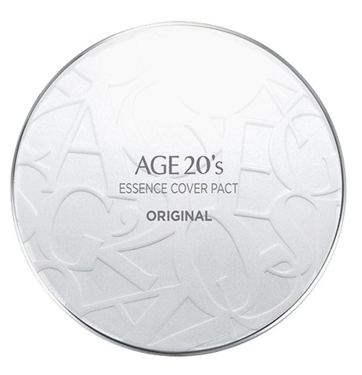 ライオン見せます枯渇AGE 20's Essence Cover Pact Original [White Latte] 12.5g + Refill 12.5g (#21)/エイジ 20's エッセンス カバー パクト オリジナル [ホワイトラテ...