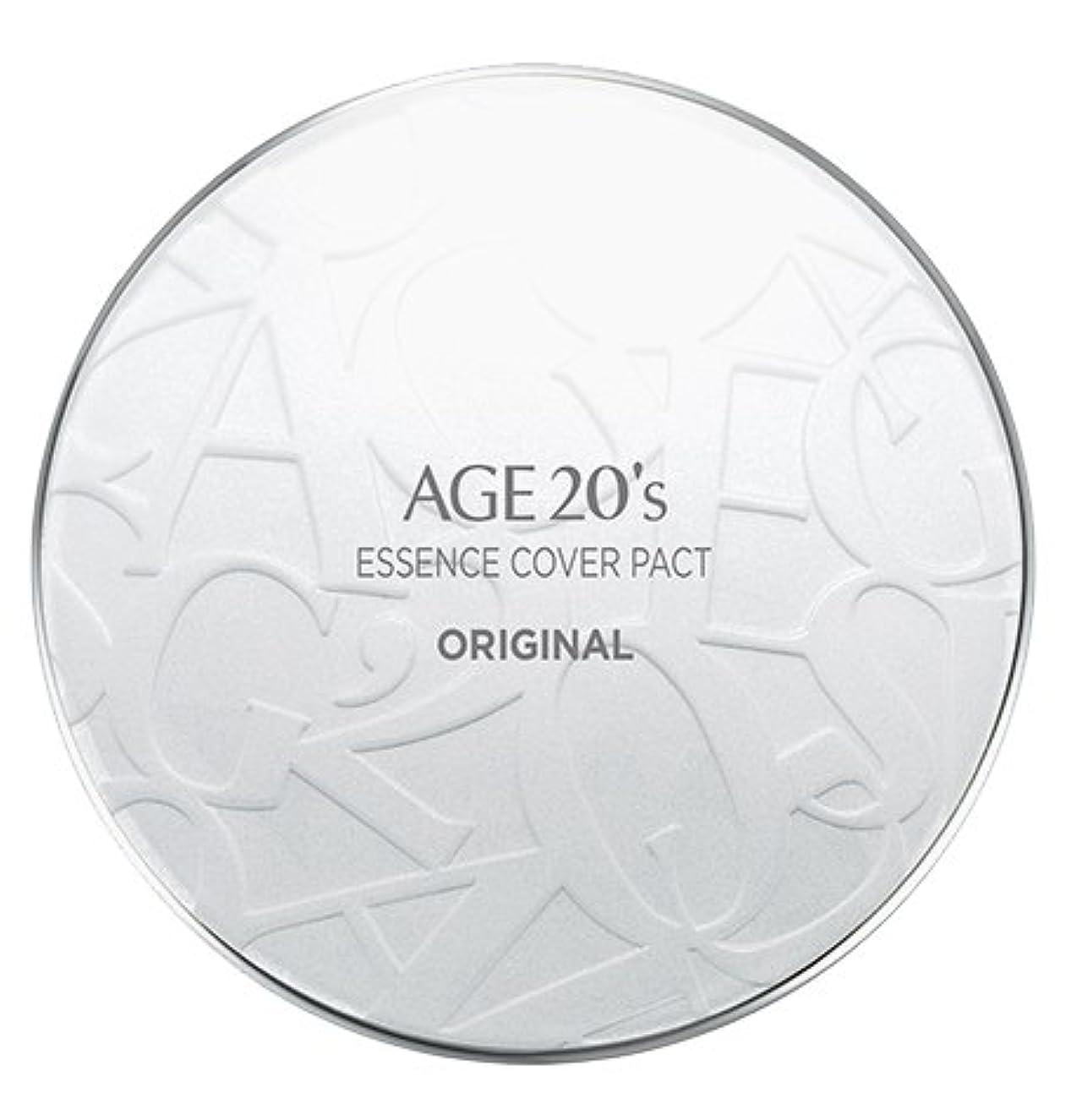 またはどちらか飲食店圧力AGE 20's Essence Cover Pact Original [White Latte] 12.5g + Refill 12.5g (#21)/エイジ 20's エッセンス カバー パクト オリジナル [ホワイトラテ] 12.5g + リフィル 12.5g (#21) [並行輸入品]