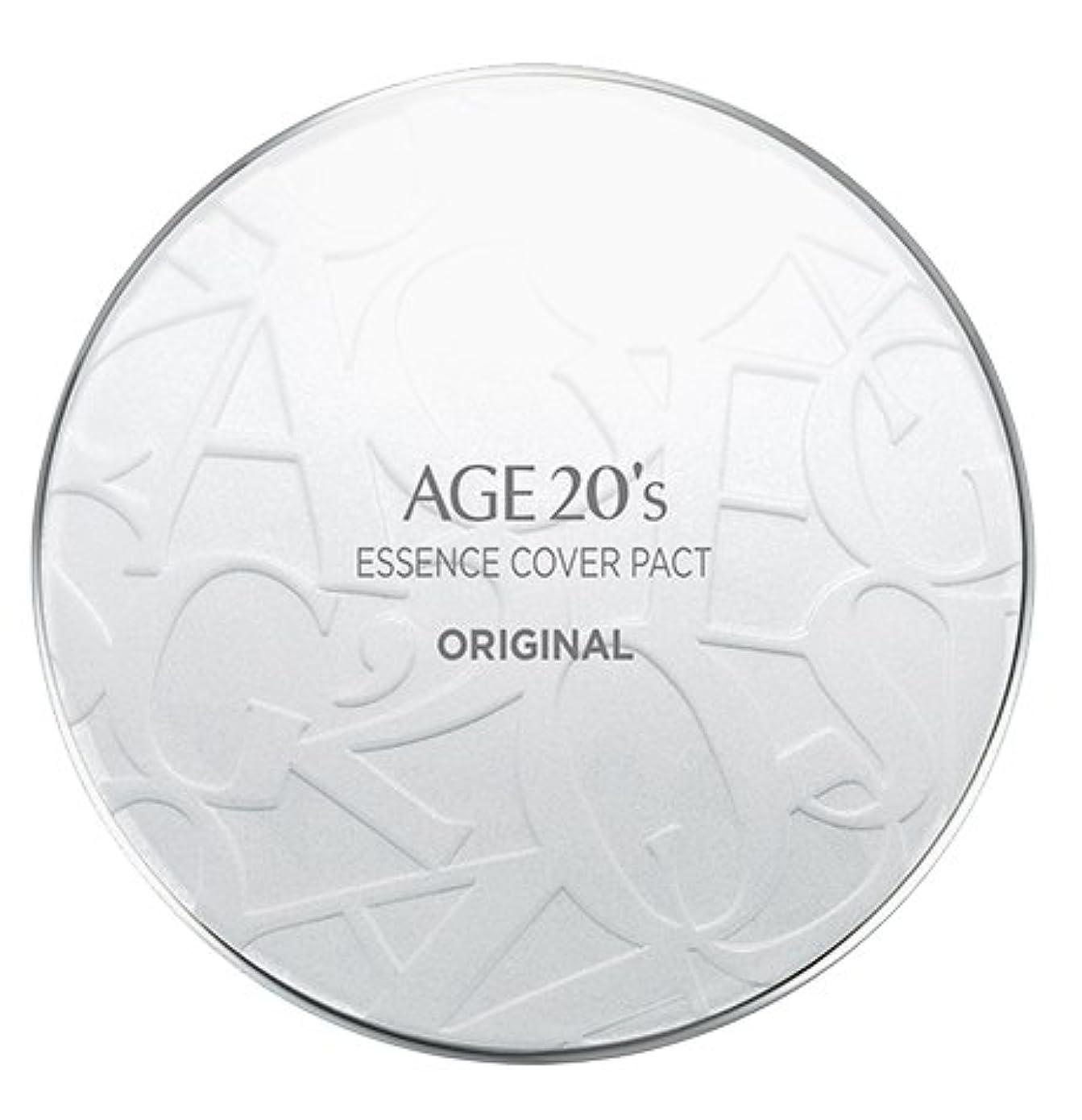 シリーズスペクトラム蓮AGE 20's Essence Cover Pact Original [White Latte] 12.5g + Refill 12.5g (#21)/エイジ 20's エッセンス カバー パクト オリジナル [ホワイトラテ...