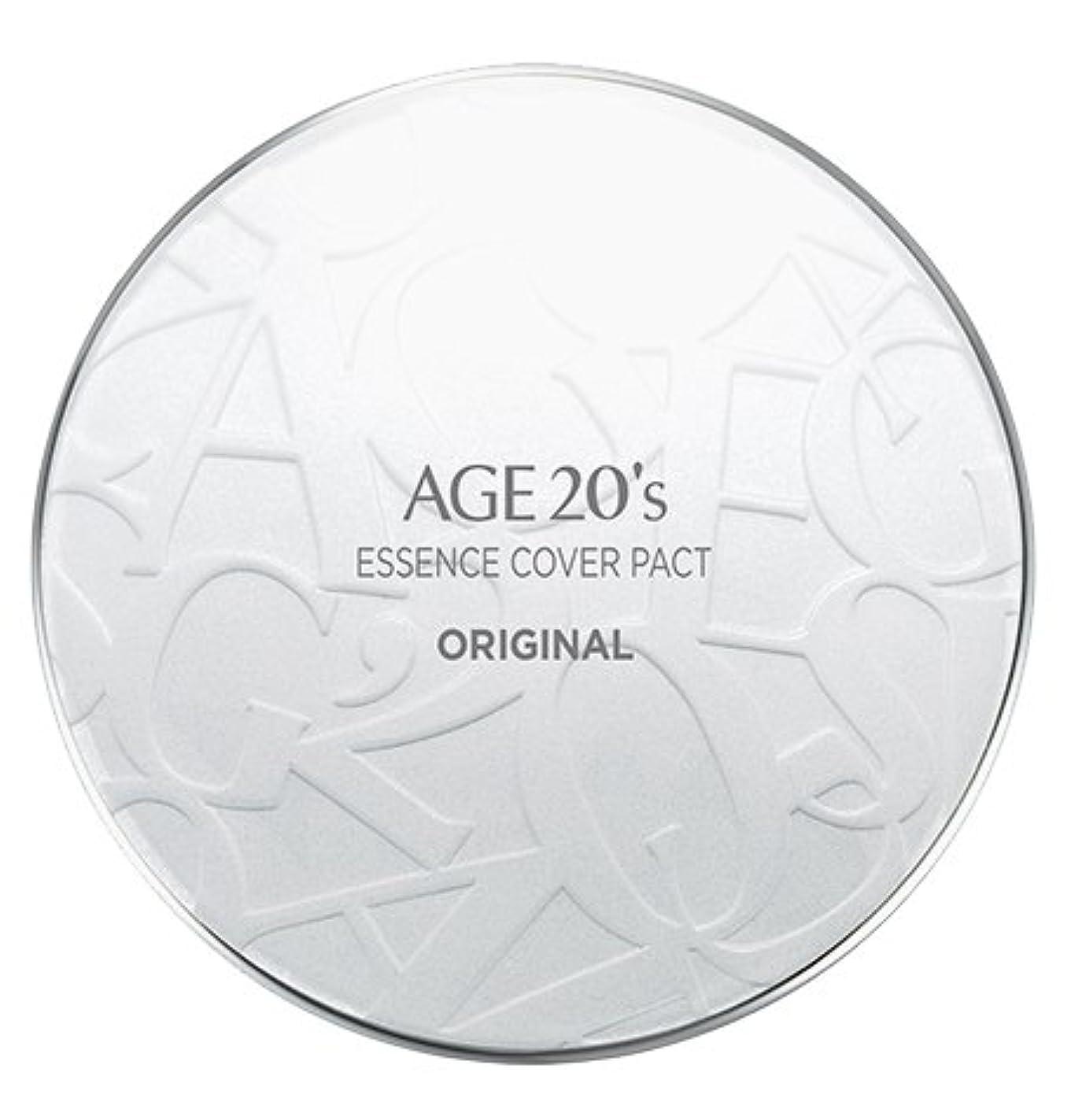 引く教育恋人AGE 20's Essence Cover Pact Original [White Latte] 12.5g + Refill 12.5g (#21)/エイジ 20's エッセンス カバー パクト オリジナル [ホワイトラテ...