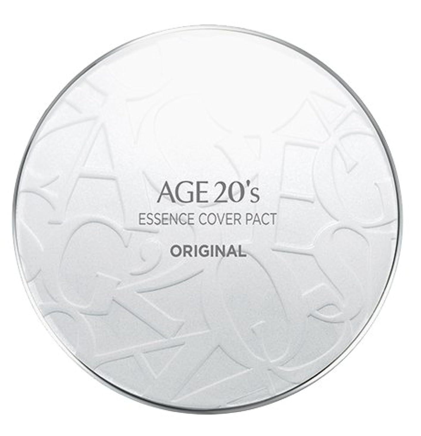 ネコ数字マイクロフォンAGE 20's Essence Cover Pact Original [White Latte] 12.5g + Refill 12.5g (#21)/エイジ 20's エッセンス カバー パクト オリジナル [ホワイトラテ...
