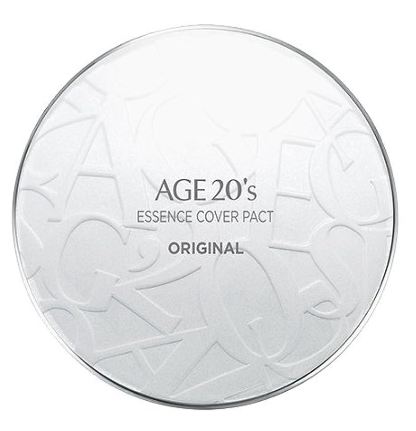許すテスピアン宣伝AGE 20's Essence Cover Pact Original [White Latte] 12.5g + Refill 12.5g (#21)/エイジ 20's エッセンス カバー パクト オリジナル [ホワイトラテ] 12.5g + リフィル 12.5g (#21) [並行輸入品]