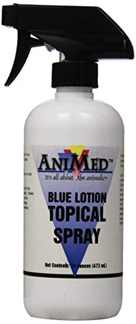 気分強い団結AniMed Blue Lotion Topical Antiseptic for Horses Dogs Cats Cows Sheep and Goats, 16-Ounce by AniMed