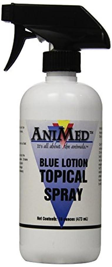 どうしたの時折普通にAniMed Blue Lotion Topical Antiseptic for Horses Dogs Cats Cows Sheep and Goats, 16-Ounce by AniMed
