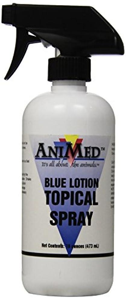 一般的に言えばレンダリング飛躍AniMed Blue Lotion Topical Antiseptic for Horses Dogs Cats Cows Sheep and Goats, 16-Ounce by AniMed